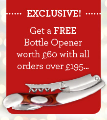 EXCLUSIVE! Get a FREE bottle opener worth £60 with all orders over £195