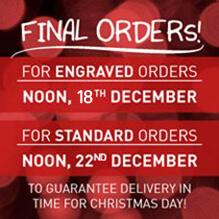 Last Xmas order dates